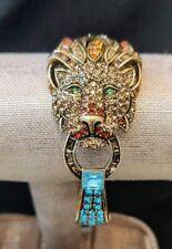 "Heidi Daus ""Bling of the Jungle"" Lion Cuff Bracelet MED/LG NWT - STUNNING!!"