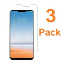 """For LG G7 THINQ Screen Protector Tempered Glass 3D 9H Clear Premium 6.1"""" 3-Pack"""