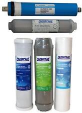 """100GPD Kit De Filtro De Repuesto 10"""" sedimentos carbón y membrana de ósmosis inversa"""