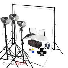 540W Flash Lighting Studio Photo Backdrop White Background Kit Stand 3x 180W