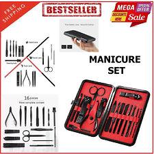 16 In 1 Professional Manicure Set Men Women Unisex Steel Grooming Pedicure Kit