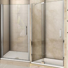 Frameless Pivot Shower Door Enclosure Hinges Cubicle 6-8mm Bathroom Glass Screen
