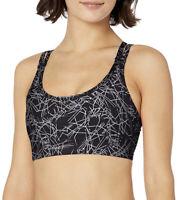 Saucony Women's Impulse Bra Top, Black Print, Sz XS