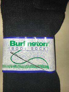 2 pair Burlington Boot Sock USA made styel 95B 85 % Acrylic/ 15% Nylon Black