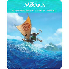 Moana (2016) (STEELBOOK) (Blu-ray 3D + Blu-ray + Digital) (Two Disc)(All)(New)