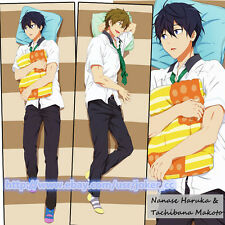 Free! Iwatobi Swim Club Nanase Haruka Cool Dakimakura Hug Body Pillow Case Cover