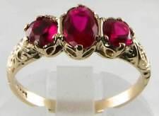 9Carat Garnet Yellow Gold Ring Victorian Fine Jewellery