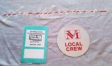 1985 Rare Vintage Van Morrison T Shirt Rock Tour Original Sz L Backstage Passes