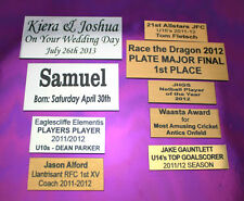 Engraved name plate plaque trophy 150mm x 60mm free engraving