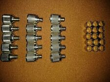 LOT OF 31 ASSORTED PL259 AND 7 N MALE COAXIAL CONNECTORS VERY NICE LOOK WOW