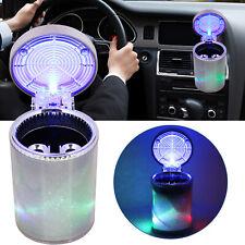 Portable Car Travel Cigarette Cylinder Ashtray Holder Cup w/ Colorful LED Light