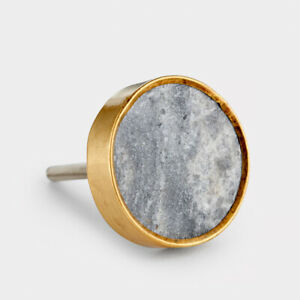 Grey And Gold Marble Effect Cupboard Cabinet Drawer Door Knobs Pulls