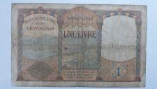 Billet Banknote Bill 1 Livre Banque de Syrie surcharge LIBAN 1939 très rare WW2.