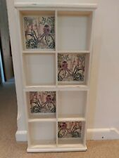 Quirky cream Shabby Chic Wooden Cabinet/ Storage Unit. Distressed/ decoupaged.