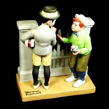 Norman Rockwell 'The Rivals' Figurine Sep 1980 Mint