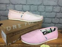 TOMS LADIES CLASSIC CANVAS SLIP II PALE PINK FLATS CASUAL SUMMER BEACH ALL SIZES