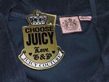 Juicy Couture Vanderbilt Terry Basics Jacket Track Shirt J Zipper Girls 14 Blue