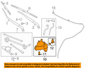 Infiniti NISSAN OEM Q50 Wiper Washer-Windshield Fluid-Reservoir Tank 289104HB0A
