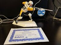 1991 Signed Mario Lemieux #298/1000 Salvino Figurine With Box, Papers COA mint