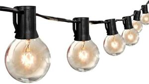 VAVOFO Outdoor String Lights with G40 Globe Bulbs, Waterproof Backyard Patio