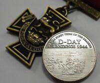 Victoria Cross Service Medal & Silver WW2 D-Day Landings Commemorative Set