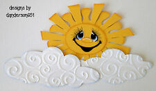 Sun Clouds Die Cuts Paper Piecing  PreMade Border Scrapbook Album danderson651