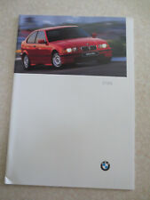 Original 1997 BMW 318ti automobile advertising booklet