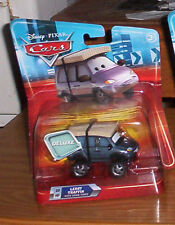 DISNEY PIXAR CARS 2 DELUXE LEROY TRAFFIX With SNOW TIRES SUPERCHARGED