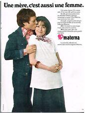 Publicité Advertising 1975 Pret a porter vetements de grossesse Materna