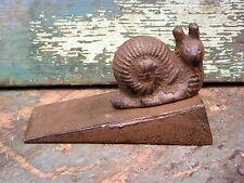 Snail Cast Iron Metal Door Stop Wedge Home Office Cabin Outdoor Indoor Decor