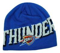 Oklahoma City Thunder OKC adidas Oversized Logo NBA Basketball Knit Hat beanie
