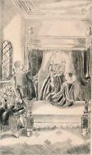 gravure originale Hermine David princesse Clèves 1943 edition anglaise debout