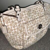 Coach Signature Chelsea Leah Large Shoulder Tote Bag C1093-F15135 Handbag Purse