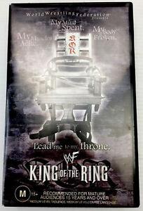 WWF King of the Ring 2001 Wrestling VHS Video Cassette Tape PAL M15+ Big Box