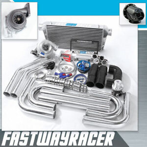 Universal GT35 T4 .68AR Turbo Kit Turbo Starter Kit T4 Flange 3.0'' V-band Clamp