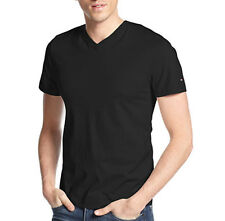 New Mens Tommy Hilfiger Elmira Short Sleeve Black  V Neck T Shirt S