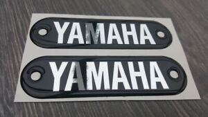 YAMAHA FS1E DX FS1 YL1 DOMED TANK BADGES /  DECALS / STICKERS QTY 2
