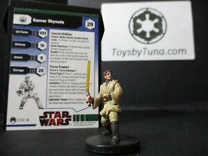 Star Wars Miniatures Ganner Rhysode Masters of the Force w/ Card mini RPG Legion