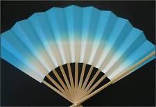 "Japanese Geisha ""Odori"" Dance Hand Held SENSU Fan/Blue"