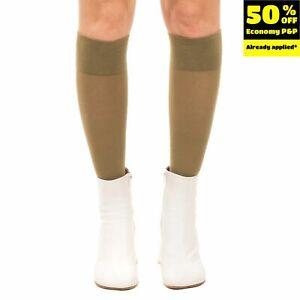 DIESEL SKF-LYA Knitted Socks Size S Green Knee High Made in Italy