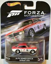 HOT WHEELS RETRO ENTERTAINMENT 2016 FORZA  ALFA ROMEO GIULIA SPRINT GTA