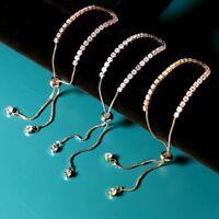 Hot Womens Silver/Gold/Rose gold Crystal Rhinestone Cubic Zircon Bracelet Bangle