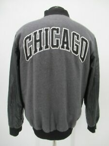 P5265 VTG NBA Chicago Bulls Team Patched Varsity Jacket Size M