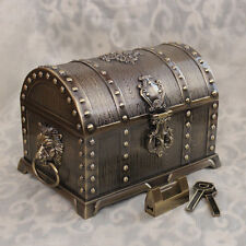Size L Bronze Color Treasure Chest Vintage Pirates of the Caribbean Jewelry Box