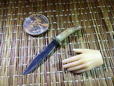 """Stag Handle Western Bowie #3"" 1:6 Scale  Custom Steel Miniature  Knife By Auret"