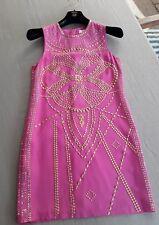 Marken*Versace by H&M*Kleid*Seidenkleid*Nieten*dress*silk*limitiert*pink*NEU