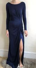 New BIBA Maxi dress £289 Midnight Blue Uk 8 Gown Floor Length Long Sleeves