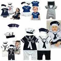 Baby Boy Girl Sailor Marine Carnival Fancy Party Costume Outfit Dress Clothes