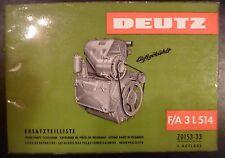 Deutz Motoren F/A 3 L 514 Ersatzteilliste