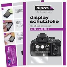 6x dipos Nikon D5200 Schutzfolie klar Displayschutzfolie Folie Clear kratzfest